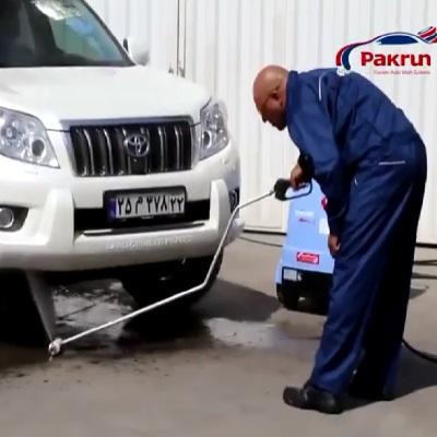 زیرشویی خودرو با تجهیزات کارواش