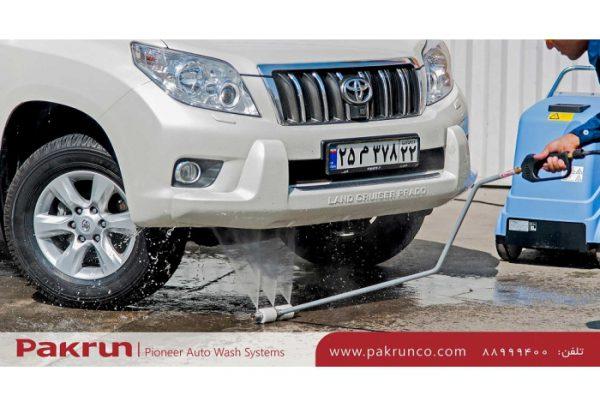 لنس زیر شویی 3 نازله برای شستشوی زیر خودرو استفاده می شود.